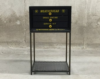 Entry Table Vintage Industrial Green Mesh Cabinet With