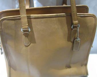 8a31061de63e ... canada vintage coach classic compartment bag tote 9872 british tan  leather 0349f 91f7b