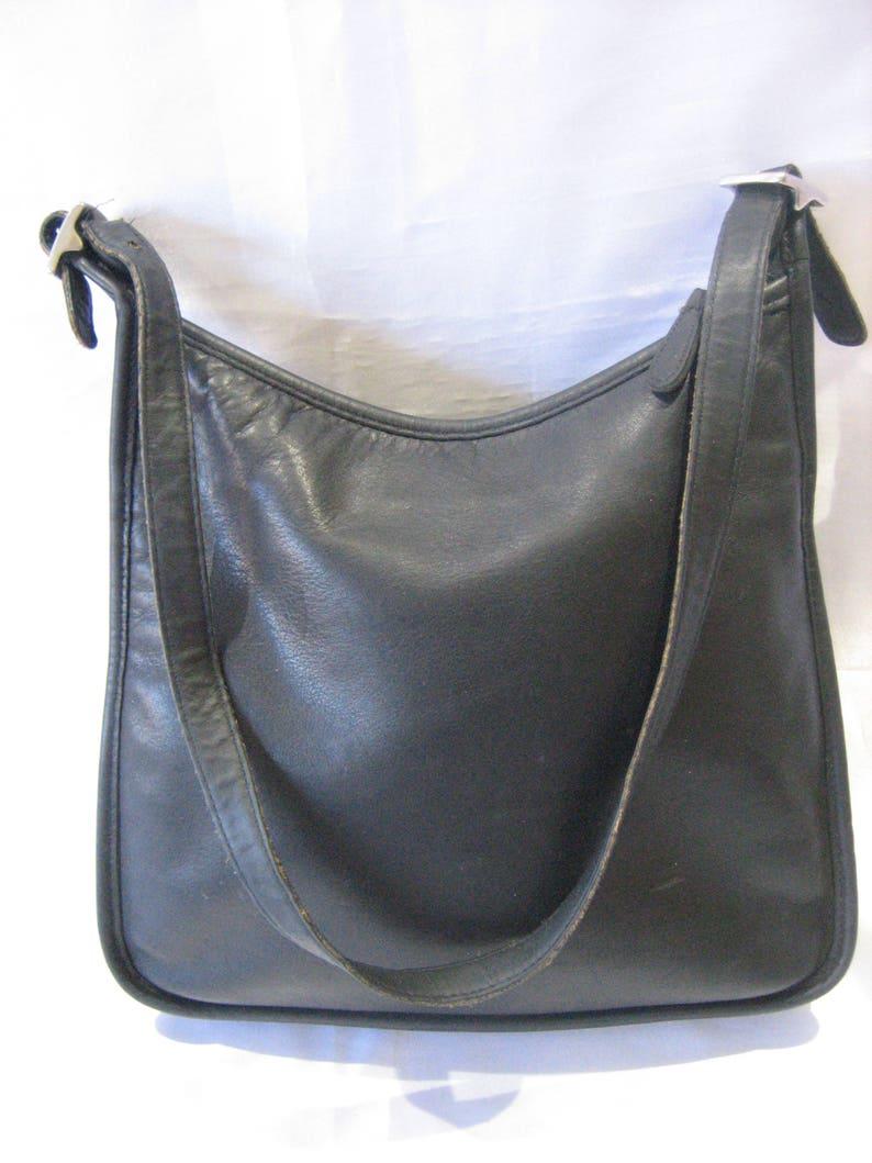 7b0cd042bf890 COACH Andrea 9073 Vintage BLack Leather Authentic Shoulder Bag   Etsy