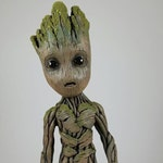 "Life size baby Groot sculpture statue 9.5"" tall (V1)"