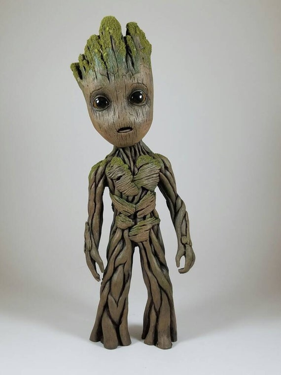 Model Baby Groot Guardians  Galaxy Life Size Foam Figure 2v Gift Toy Collection