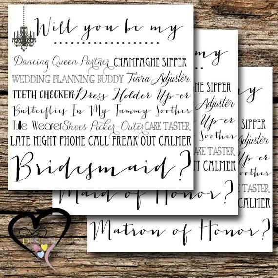 Bridesmaid Proposal Card, Ask Bridesmaid, Wedding Party, Be my Bridesmaid in my Wedding