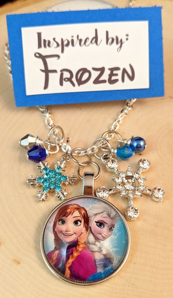 Girls Frozen Elsa Silver Plated Necklace Brand New in Bag Great Stocking Filler!