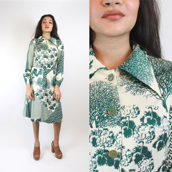 Vintage 1960s Dress Women's Size S with Mixed Whim