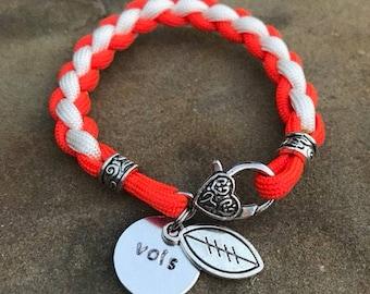 Tennessee Vols inspired bracelet