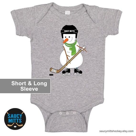 NHL Edmonton Oilers Personalised BabyGrow OnePiece Bodysuit Vest Hockey
