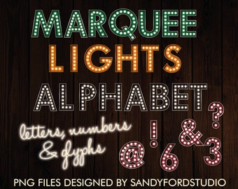 marquee lights etsy