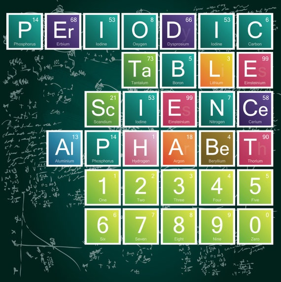 Science alphabet periodic table letters 90 letters etsy urtaz Image collections