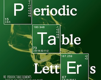 Science alphabet periodic table letters 90 letters science letters periodic table elements breaking bad style 130 letters pngs urtaz Image collections