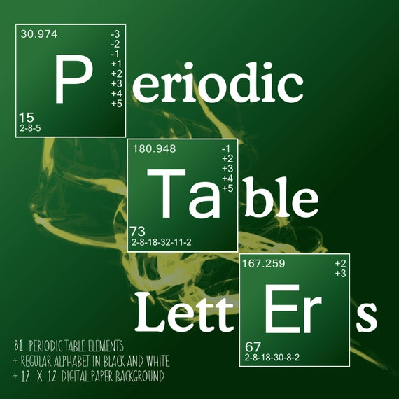 Science Letters Periodic Table Elements Breaking Bad Style Etsy