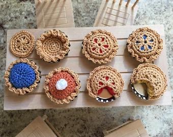Bottle Cap Pies Crochet Pattern