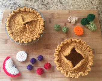 Pie Crust Basket Crochet Pattern