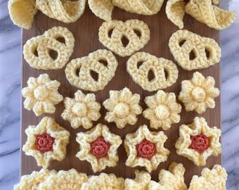 Party of Shortbread Cookies Crochet Pattern