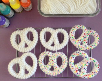 White Chocolate-Dipped Confetti Sprinkled Pretzels Crochet Pattern