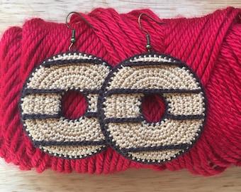Cookie Earrings Crochet Pattern