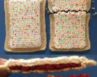 Sweet-Filled Toaster Pastry Crochet Pattern