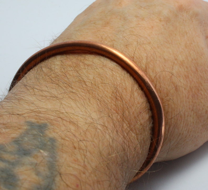 healing Copper Cuff any size cuff arthritis thick and strong gift for him or her Chunky Solid 100/% new Copper Copper Bracelet Bangle