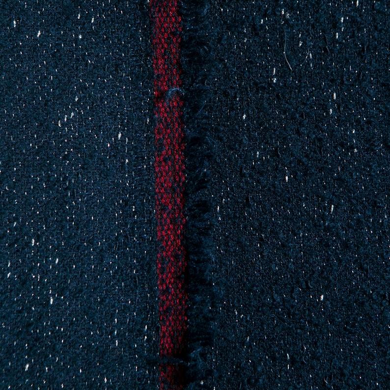 craft by the yard dark blue circleterry wool blend shinny metallic fabric coat skirt Yarn-dyed tweed fabric dress sewing for jacket