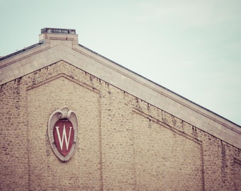 Camp Randall Field House - University of Wisconsin Madison Crest - Wisconsin Badgers Football - Wall Art