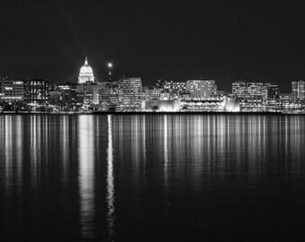 Madison Wisconsin Skyline - Lake Monona Terrace - Cityscape Photography - Wall Art