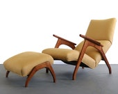 Vintage Mid Century Sculptural Lounge Chair Inspired by Adrian Pearsall