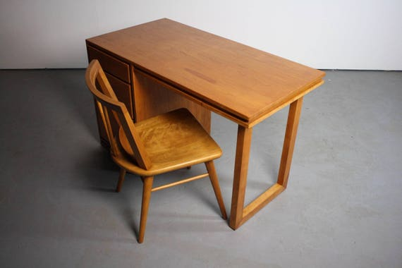 Super Mid Century Modern Birch Desk By Russel Wright For Conant Ball Forskolin Free Trial Chair Design Images Forskolin Free Trialorg
