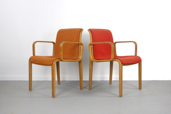 Set Of Vintage Armchairs By Bill Stephens For Knoll Etsy