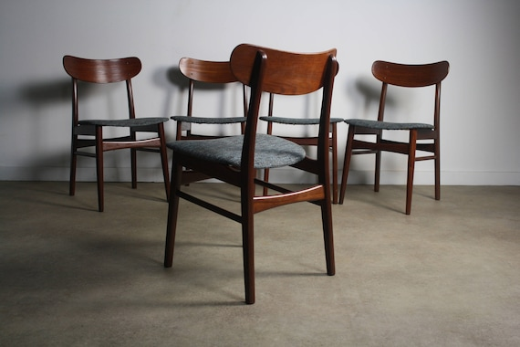 Incredible Teak Danish Modern Farstrup 210 Dining Chairs A Set Of 5 Squirreltailoven Fun Painted Chair Ideas Images Squirreltailovenorg