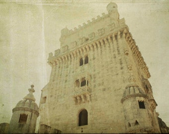LISBON-Portugal Tower of Belem-digital photography colors. Photographic printing.