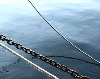 Dock. The summer, photography, holidays and travel. in Sicily, fine art print. Photo Print.