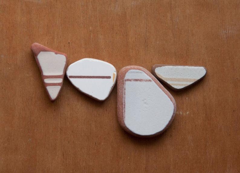 Set di pietre di mare piastrelle di ceramica lavorate dal etsy