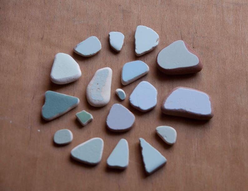 Set di pietre di mare piastrelle lavorate dal mare cocci etsy