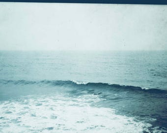 Italy, Sicily. Syracuse-the sea. Photography. Blue picture.  Photographic print.