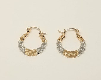 14K Gold Filled Hoop  Earrings/ Free Shipping in the US!
