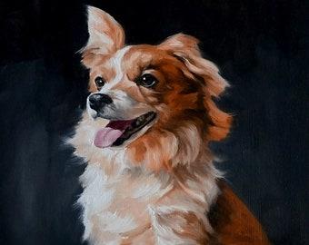 Custom Pet Oil Painting - Original 8x10 Oil Painting Of Your Pet- Dog Portrait Oil Painting- Pet Portrait Oil Painting- Cat Portrait