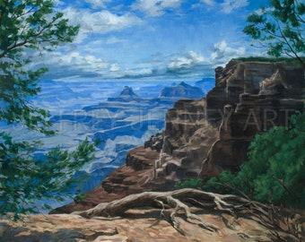 Grand Canyon Print - Fine Art Print From An Original Painting - 8x10 - By Jeffrey Jenney - Grand Canyon - Landscape Art - North Rim