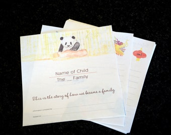 Unbound Adoption Book for a child born in China