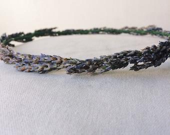 Dried lavender floral crown
