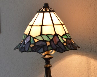 Floral Tiffany Style Stained Glass Table Lamp