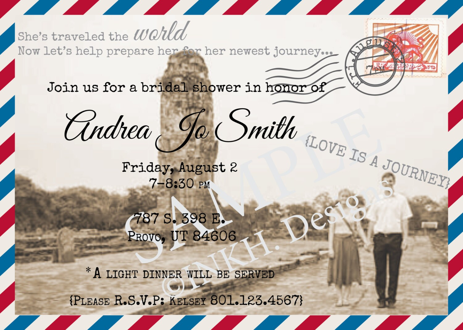bf0ddb3ed70 Travel Theme Bridal Shower Invitation Printable