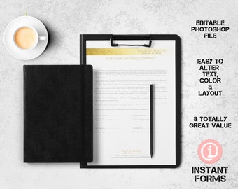 Wedding Planner Forms And Contract Much More