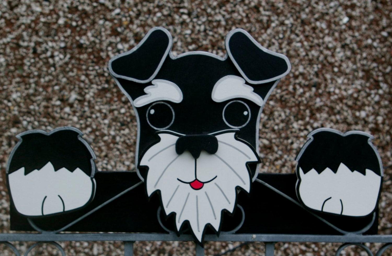 Schnauzer gardienne cl ture jardin ornements d corations chien etsy - Cloture chien jardin ...