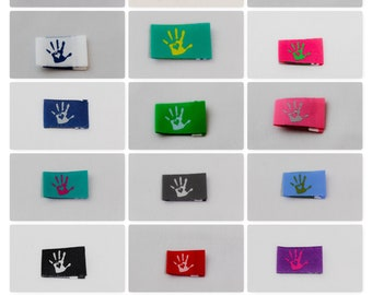 45 Handmade with Love Labels Web Labelled 15 Colors Settable Dresses Labels Sylter sewing culture textile labels