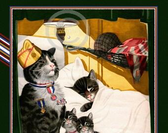 Cat print | Etsy