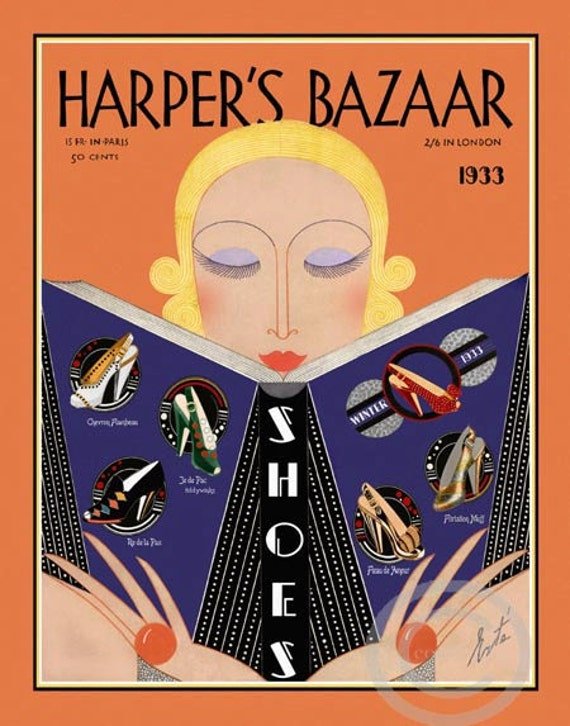Erte Harpers Bazaar Giclee Canvas Print Paintings Poster Reproduction