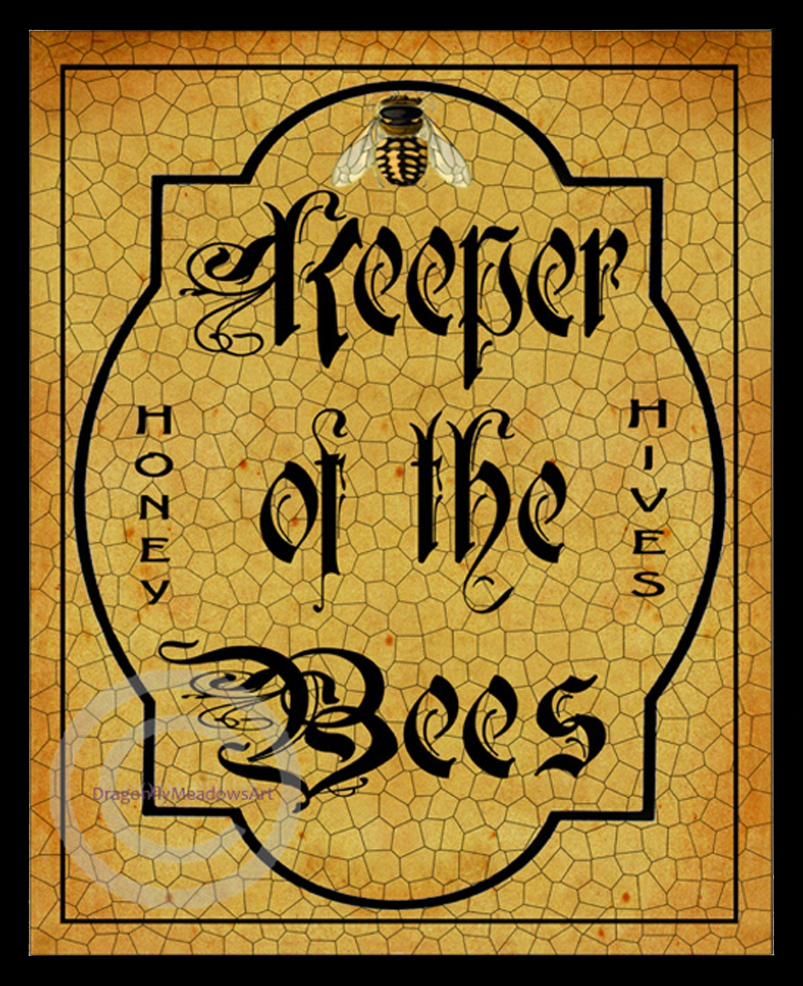 Whimsical Bee Keeper Sign Keeper of the Bees Vintage Style | Etsy