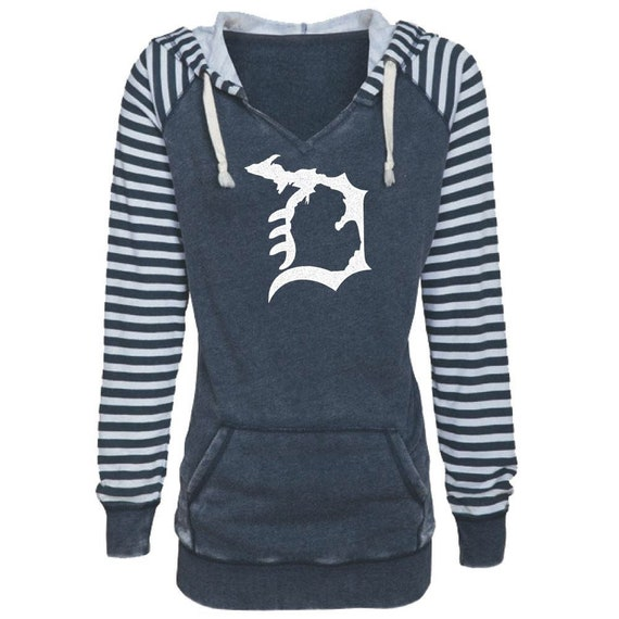 Michigan Love Where You/'re From Women/'s Stripes Chalk Terry Hoodie