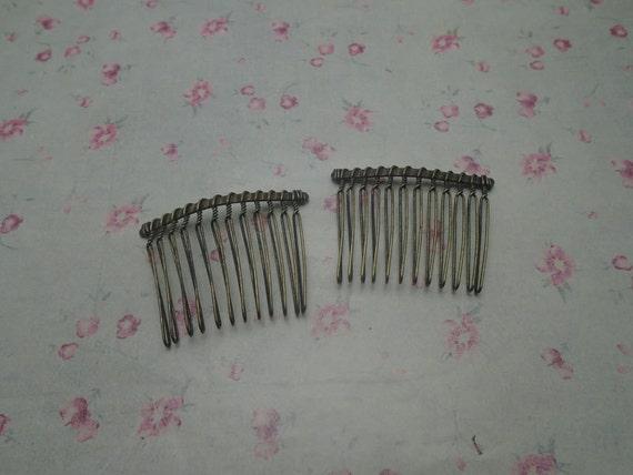 15pcs 12 dents peigne à cheveux métal couleur bronze antique, cheveux peigne accessoire 47x37mm, HA3128-15