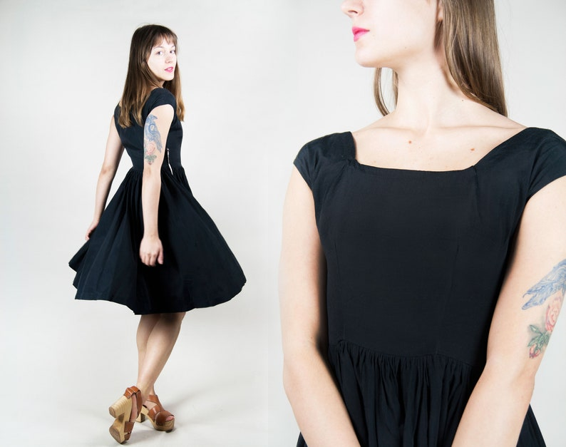 size extra small to small 50s black party dress