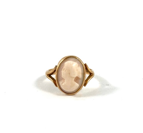 10K Cameo ring, antique ring, cameo, vintage ring,